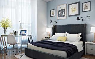 Дизайн спальни с письменным столом