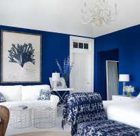 Темно синие стены в интерьере