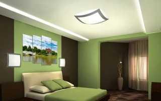 Обои для спальни в зеленых тонах