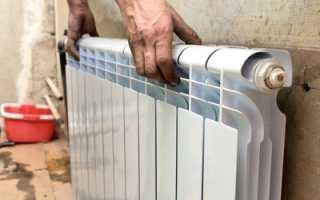 Установка кронштейнов для радиаторов отопления