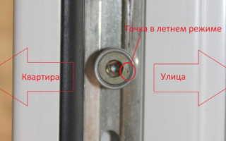 Как регулировать пластиковые окна двери