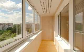 Сколько стоит обшить балкон внутри