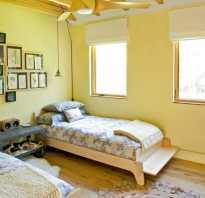 Черно желтая спальня