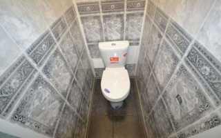 Как отремонтировать туалет пластиковыми панелями