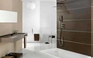 Ванная с душем без кабины дизайн