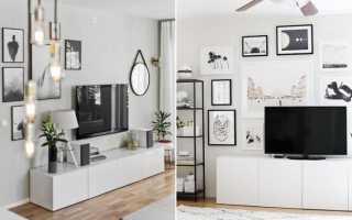 Телевизор на стене интерьер