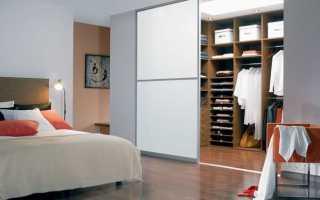 Гардеробная в спальне 9 кв м