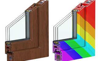 Ламинированные пластиковые окна цвета