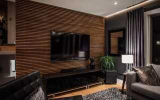 Телевизор на стене в гостиной варианты