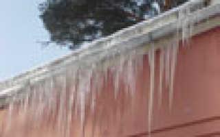 Как правильно сбивать сосульки с крыш