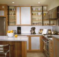 Кухня внутри шкафа