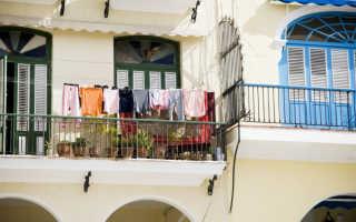 Какие бывают сушилки для белья на балконе