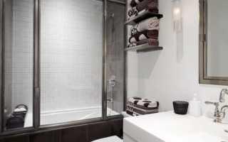 Ванная с душевым поддоном фото