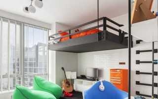 Дизайн детской комнаты с выдвижными кроватями