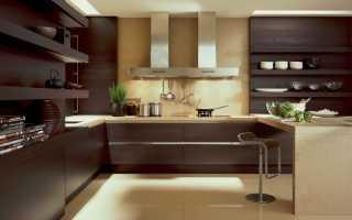 Кухня в шоколадных тонах фото