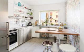 Как использовать широкий подоконник на кухне