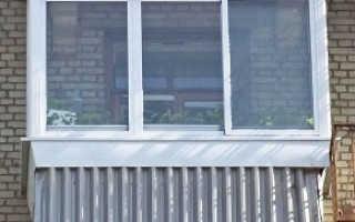 Остекление балкона в сталинке с выносом