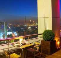 Ресторан с верандой на крыше в москве