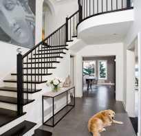 Дизайн коридора в доме с лестницей фото
