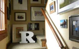 Дизайн стен возле лестницы