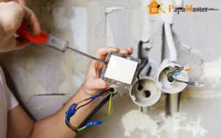 Монтаж электропроводки в частном доме схема проводки