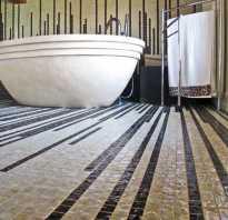 Плитка мозаика на пол в душ
