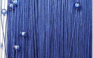 Как сделать нитяные шторы своими руками?