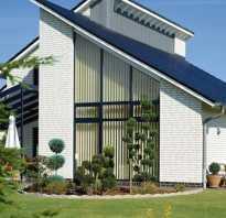 Разновидность односкатной крыши