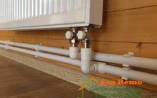 Установка металлического радиатора отопления