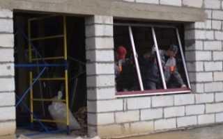 Установка окон в газосиликатные стены