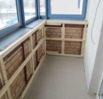 Обрешетка балкона под пластиковые панели