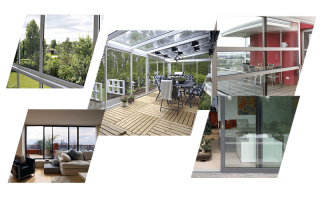 Распашные алюминиевые окна для балкона