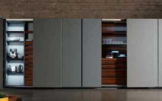 Кухня в шкафу купе фото