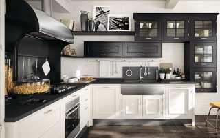 Кухня верх белый низ