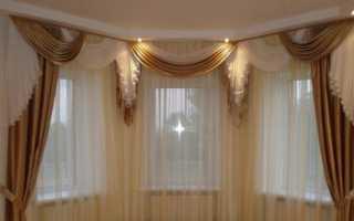 Портьеры с ламбрекеном в зал фото
