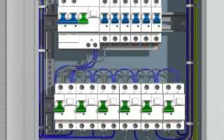 Монтажная схема электрощита