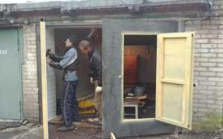 Как утеплить дверь в гараже изнутри