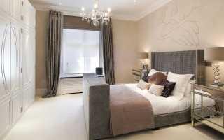 Дизайн спальни с бежевыми обоями фото